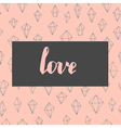 Trendy love card vector image vector image