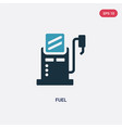 two color fuel icon from industry concept vector image vector image