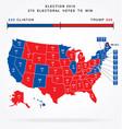 usa editable 2016 electorial college map vector image vector image