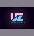 uz alphabet letter join joined letter logo design vector image vector image