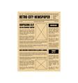 vintage newspaper template sheet old style design vector image vector image