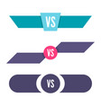 vs letters icon vector image