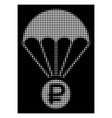 white halftone rouble rescue icon vector image