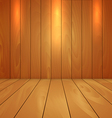 wood floor and wall background with spot light vector image