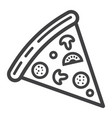 pizza slice line icon food and drink fast food vector image