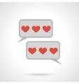 Flat color love message icon vector image