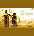 3d realistic oil essence ad poster vector image vector image