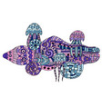 a doodle marine life vector image vector image