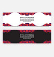 abstract low poly web banner design vector image vector image