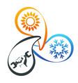 air conditioning repair design vector image