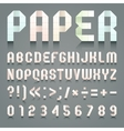 Alphabet folded paper vector image vector image