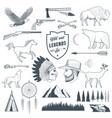 american legends set vector image vector image