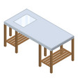 architect work table icon isometric style vector image vector image
