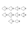 arrows a icon set vector image vector image