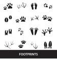 basic animal footprints set eps10 vector image