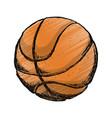 basketball ball game vector image vector image
