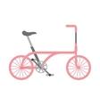 bicycle vehicle style isolated icon vector image
