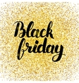Black Friday Gold Poster vector image vector image