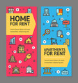 building house or home and apartment for rent vector image