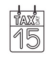 calendar reminder with tax day vector image vector image