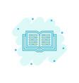 cartoon open book icon in comic style text book vector image vector image
