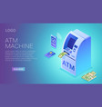 cash terminal isometric contactless atm vector image