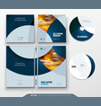 cd envelope dvd case design business template vector image