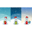 christmas gift and toy banner set present boxes vector image vector image