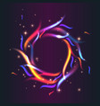 circle of fire with colorful flames vector image vector image