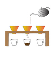 coffee maker Hand drawn coffee drip vector image vector image