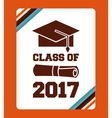 congratulations class of 2017 card vector image vector image