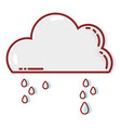 cute cloud with raining and cold weather vector image vector image
