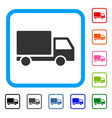 delivery lorry framed icon vector image vector image