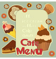 Design Cafe Menu vector image vector image