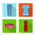 design of woman and clothing logo set of vector image