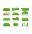 different green leather luxury office sofa vector image vector image