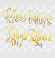 fathers day calligraphy with abstract idea for vector image
