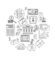 Finance and investing outline icons set vector image vector image