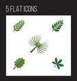 flat icon nature set of alder rosemary acacia vector image vector image