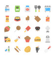 foods and beverages flat set vector image vector image