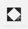 geometric simple shape in grunge retro style vector image vector image