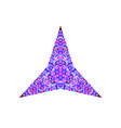 geometrical colorful tiled mosaic ornament star vector image vector image