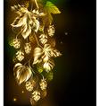 Golden Hops vector image vector image