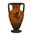 greece antique culture and heritage vase amphora vector image