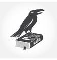 Halloween vintage badge emblem logo or label vector image