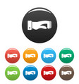 hand concept icons set color vector image vector image