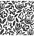 hand drawn simple abstract flower seamless pattern vector image vector image