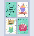 happy birthday keep calm and celebrate poster vector image vector image