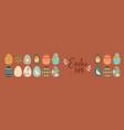 happy easter cute cartoon rabbit egg banner vector image vector image