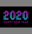 happy new year greeting card design 2020 vector image vector image